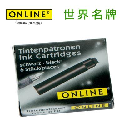 德國原裝進口 Online 卡式墨水6入 17022/12 - 黑色 /盒