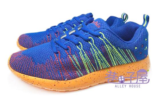 【巷子屋】JIMMY POLO 男款編織造型輕量運動慢跑鞋 [13025] 藍 超值價$398