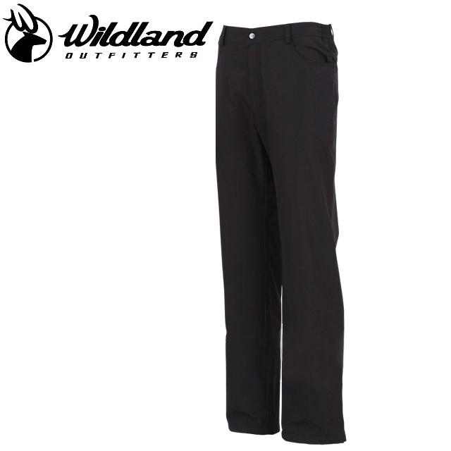 荒野 Wildland  防風褲休閒褲/保暖褲/滑雪/旅遊/ 男防風防潑水保暖長褲 W2302-54 黑色