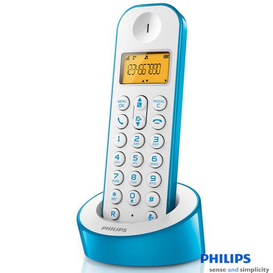 PHILIPS 飛利浦 數位無線電話 D1201 / D1201WA 藍色款