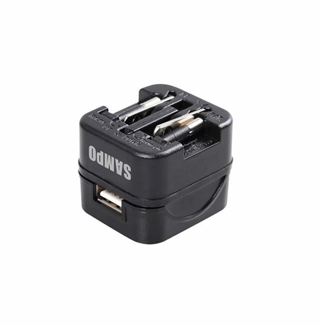 SAMPO聲寶 USB萬國充電器轉接頭-黑色 EP-UB0BU1