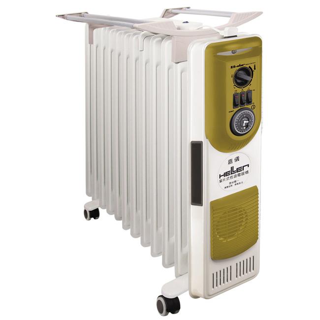 ◤拿鐵限量款◢ 德國 HELLER 嘉儀 12葉片 恆溫葉片式電暖器 KE212TFB / KE-212TFB