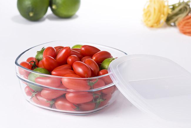 GlassLock【格拉氏洛克】強化玻璃保鮮盒 - 圓形850ml 三件組《SP-1403》可微波、可冷藏 **可刷卡!免運費**