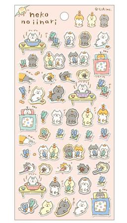 *小徑文化*日本進口 Q-Lia 箔押透明貼紙系列 - 乖巧的貓 ( 11095 )