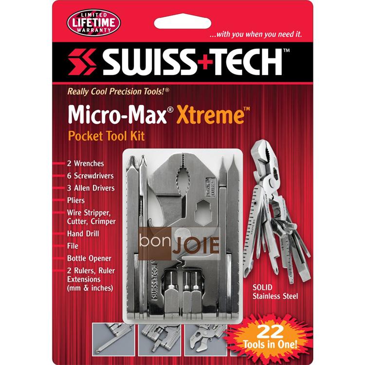 ::bonJOIE:: 美國進口 Swiss+Tech 22 合 1 Micro-Max Xtreme 多功能隨身迷你工具組 22-in-1 鑰匙圈 工具鉗 螺絲起子 鉗子 Swiss Tech