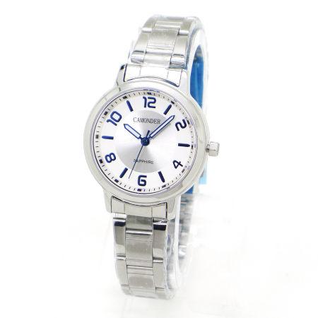 《好時光》CAMONDER 卡蒙迪 極簡風 經典數字 不鏽鋼時尚女錶 水晶鏡面