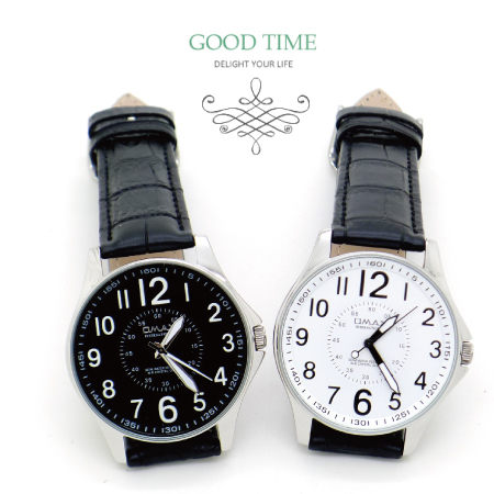 《好時光》OMAX 個性大面徑 飛行儀表版風 清晰數字時尚男錶-皮錶帶