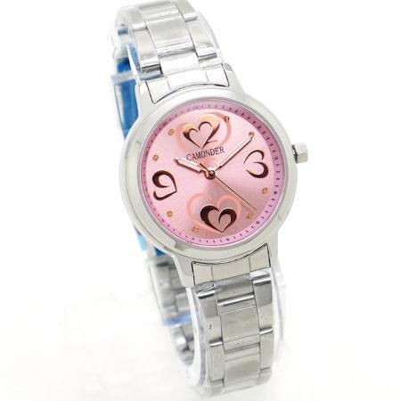 《好時光》CAMONDER 卡蒙迪 優雅甜心 玫瑰金數字 不鏽鋼時尚女錶 水晶鏡面