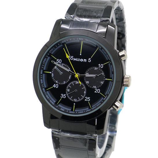 《好時光》Wilon  黑色 小b風 經典款 假三眼設計潮流男錶 女錶 對錶 -單支價格