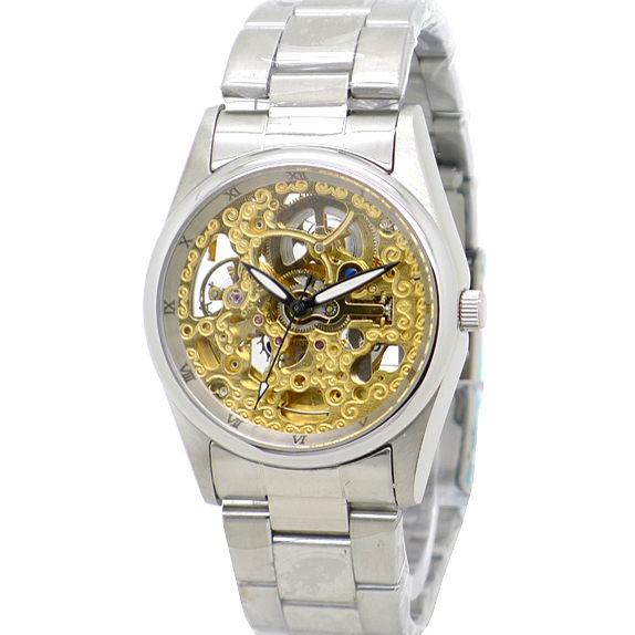 《好時光》Valentino 范倫鐵諾 金色時光 羅馬時刻 雙面鏤空雕花自動機械錶