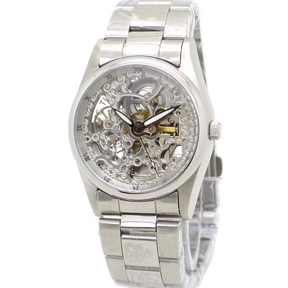 《好時光》Valentino 范倫鐵諾 銀色時光 羅馬時刻 雙面鏤空雕花自動機械錶