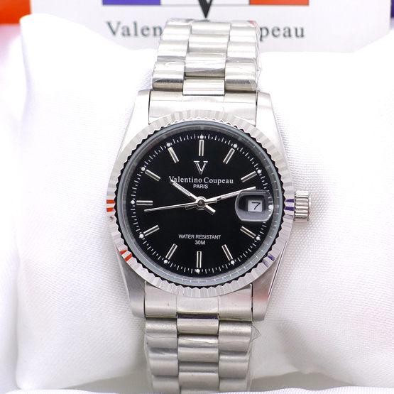《好時光》Valentino Coupeau 范倫鐵諾 經典時刻 背面鏤空 日期窗 自動機械錶-銀白