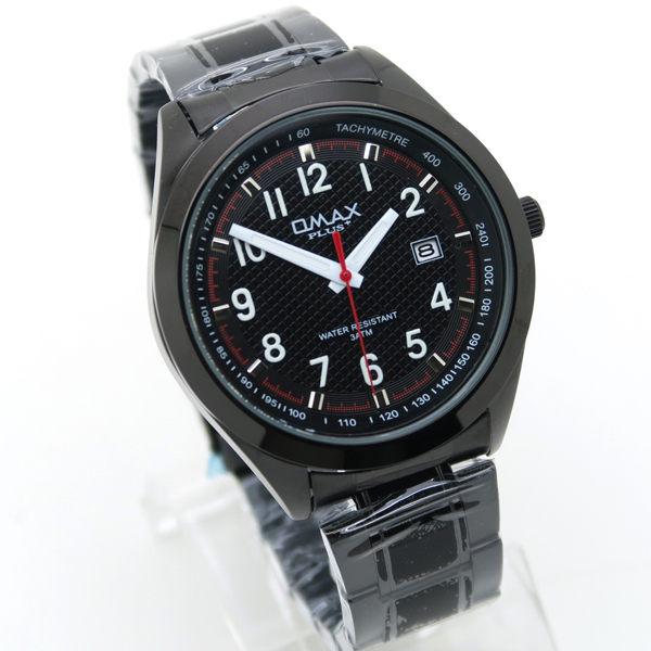《好時光》OMAX PLUS+  大錶面 清晰數字 格紋面 日期 飛行 運動風 黑鋼時尚男錶 - 全黑