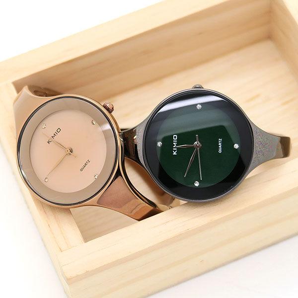 《好時光》KIMIO 簡約設計  晶鑽時刻 手環造型錶 手鐲錶 - 類CK錶風格