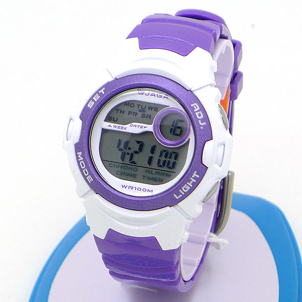 《好時光》JAGA 捷卡M876 亮彩馬卡龍色多功能防水運動電子錶 可游泳 防水100M 紅 SK-J9