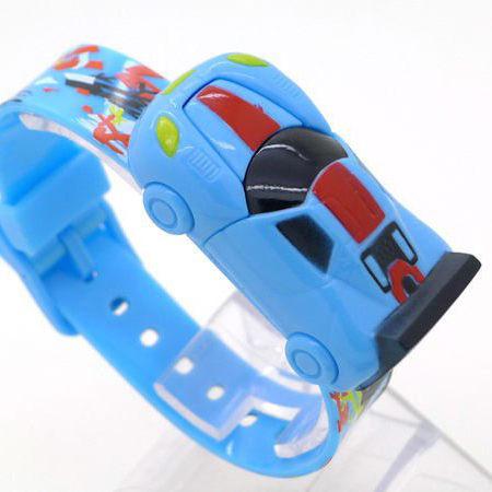 《好時光》可愛跑車造型 按壓彈跳顯示 兒童錶 電子錶 玩具錶 造型錶
