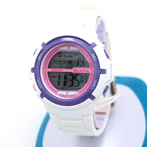 《好時光》JAGA 捷卡 M1085 馬卡龍 粉嫩系 運動風冷光多功能電子錶/兒童錶/女錶-防水100M 可游泳