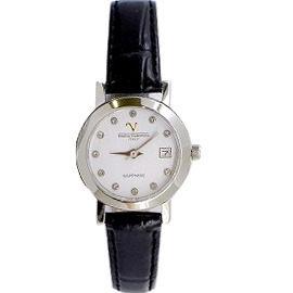《好時光》Emilio Valentino 范倫鐵諾  薄型晶鑽永恆時光(日期窗)時尚女錶-水晶鏡面-白色