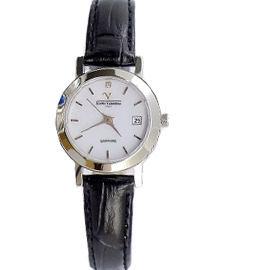 《好時光》Emilio Valentino 范倫鐵諾 薄型簡約刻度(日期窗)水晶鏡面時尚女錶-白色