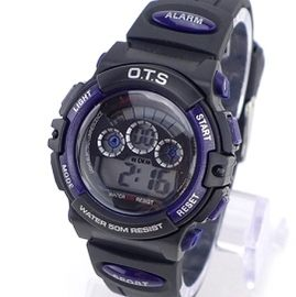 《好時光》 O.T.S 運動風七彩冷光多功能防水電子錶/兒童錶  OTS (單支價格)