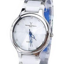 《好時光》Valentino 范倫鐵諾 晶鑽永恆時刻多角度切割鏡面陶瓷時尚男錶-白色-圓