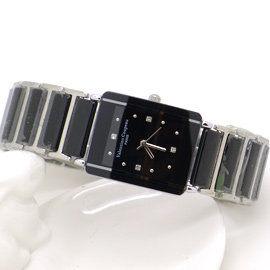 《好時光》Valentino 范倫鐵諾 長方型經典陶瓷時尚女錶-黑色