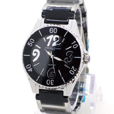 《好時光》Valentino 范倫鐵諾 經典風格數字3.6.9.12陶瓷時尚女錶-黑色