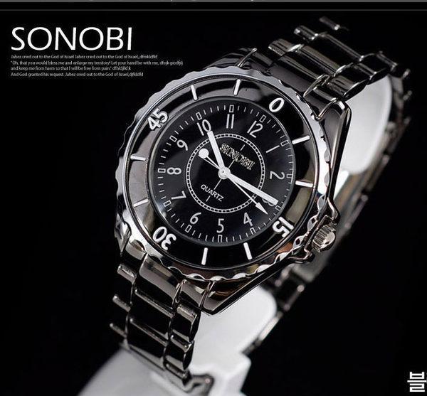 《好時光》SINOBI 黑色  可旋轉框  時尚小香奈 男錶/女錶-單支價格