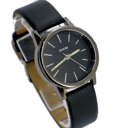 《好時光》SINOBI 黑色/ 咖啡色 簡約放射狀刻度 立體鏤空鏡面  潮流時尚男錶/女錶-單支