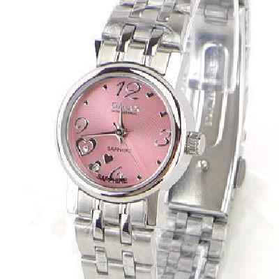《好時光》OMAX 歐瑪士 心動時刻3.6.9.12 水鑽時刻時尚女錶-粉色-水晶鏡面