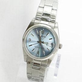 《好時光》PROKING 皇冠 經典數字6.9(日期)時尚男錶/女錶-水藍色