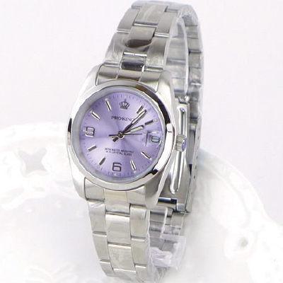 《好時光》PROKING 皇冠 經典數字6.9(日期)時尚女錶-紫色