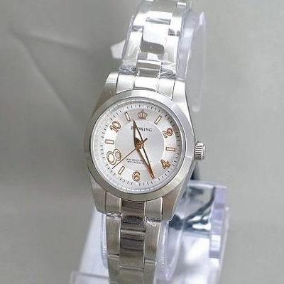 《好時光》PROKING 皇冠 大8數字不鏽鋼時尚女錶-銀白色-單支