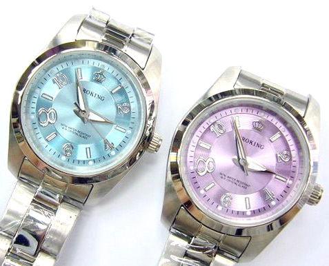 《好時光》PROKING 皇冠 大8數字不鏽鋼時尚女錶-紫色-單支