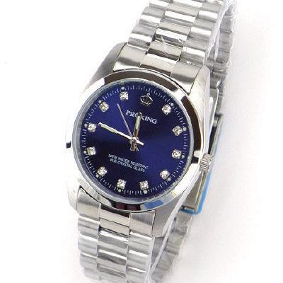 《好時光》PROKING 皇冠 經典水鑽時刻時尚男錶-深藍色