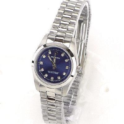 《好時光》PROKING 皇冠 經典水鑽時刻時尚女錶-深藍色