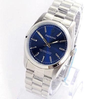 《好時光》PROKING 皇冠  經典時刻時尚男錶/女錶-深藍色