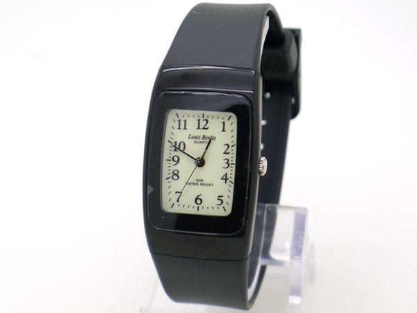 《好時光》Louls Bentte 夜光面-薄型輕量款清晰數字防水錶/男錶/女錶 (粉/白/藍/黑) 防水50M