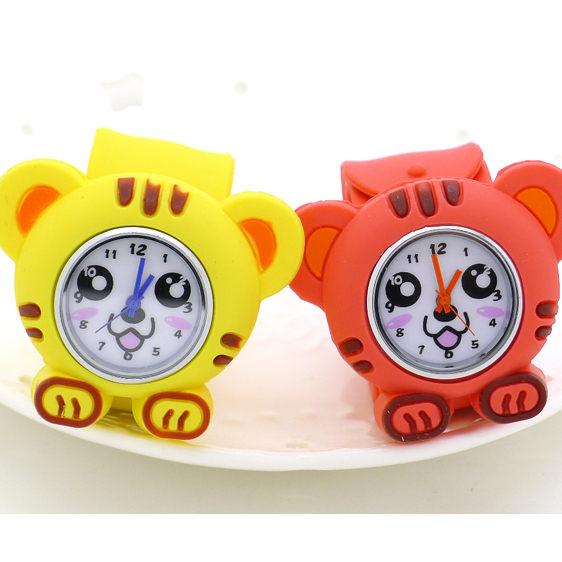 《好時光》可愛小老虎 拍拍錶 捲尺錶 自動捲尺 動物造型手錶