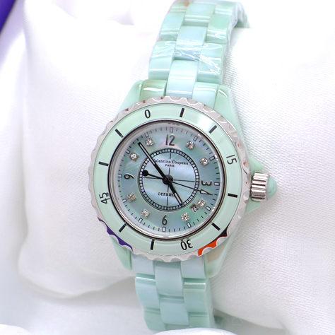 《好時光》Valentino Coupeau 范倫鐵諾 高精密陶瓷J12款晶鑽(日期)女錶-水晶鏡面-白玉翡翠
