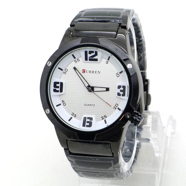 大數字 運動賽車風 都會型男 質感紋路面 黑鋼款 男錶 CURREN《好時光》