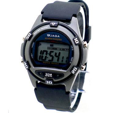 《好時光》JAGA 捷卡 M267 薄型絢麗亮彩多功能電子錶 防水30M 路跑 游泳必備
