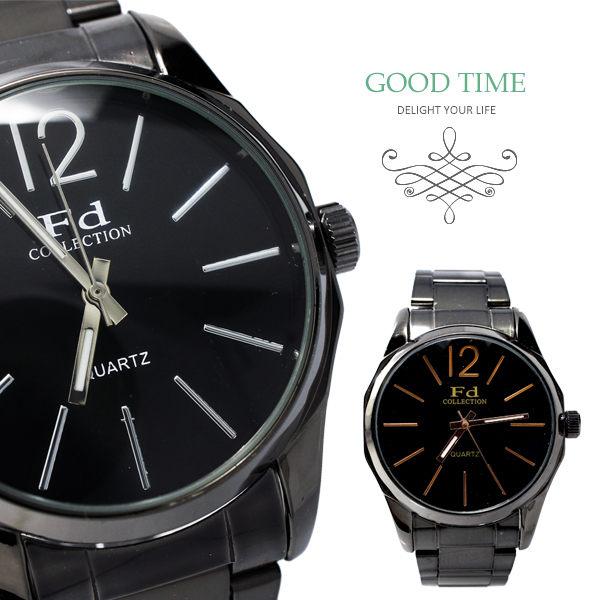 《好時光》Fd 黑色 簡約設計 經典刻度 個性錶 中性錶 CK錶風格