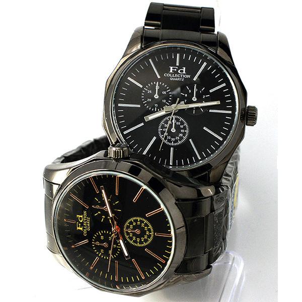 《好時光》Fd 黑色 仿三眼設計 經典風格 個性錶 中性錶 CK錶風格