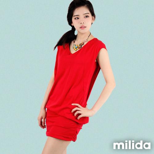 【Milida,全店七折免運】-早春商品-連衣裙-緊身短裙洋裝