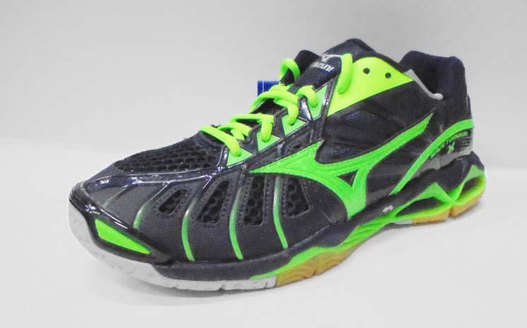 [陽光樂活]美津濃MIZUNO WAVE TORNADO X 頂級排球鞋 V1GA161236 (丈青x綠)