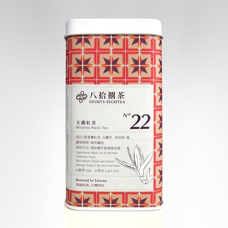 【八拾捌茶 窨製花茶】玉蘭紅茶 100g