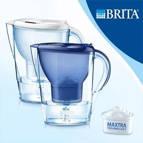 ★松下飲用水★德國BRITA 3.5L馬利拉記憶型濾水壺【內含一支濾芯】白色/藍色