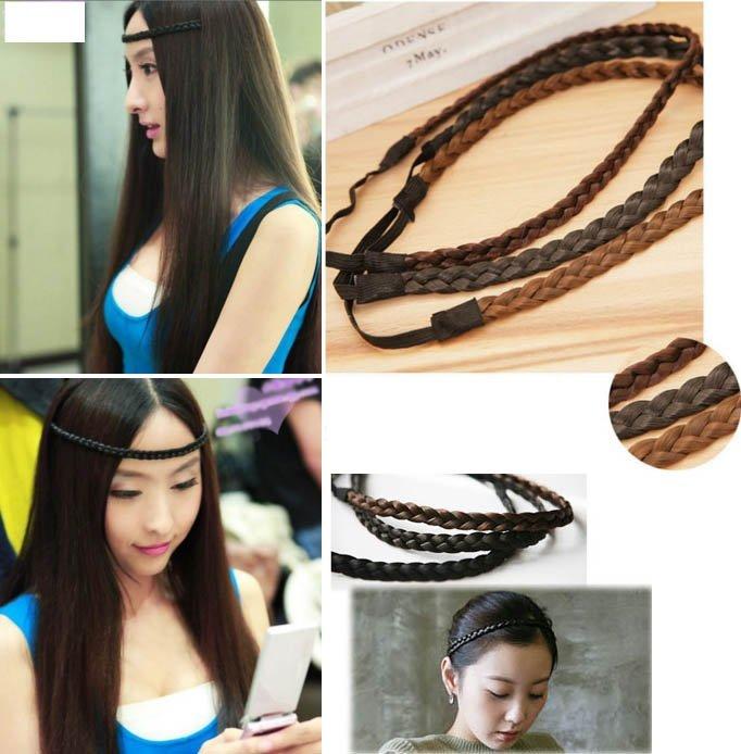 來福髮辮,H372假髮麻花辮子造型額頭髮圈髮束髮箍髮帶髮飾飾品配件,售價39元