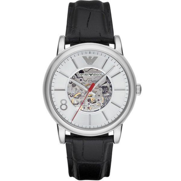 EMPORIO ARMANI/AR1997 雅痞機械時尚腕錶/咖啡面43mm